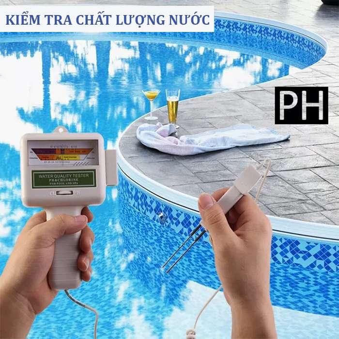 kiểm tra chất lượng nước bể bơi
