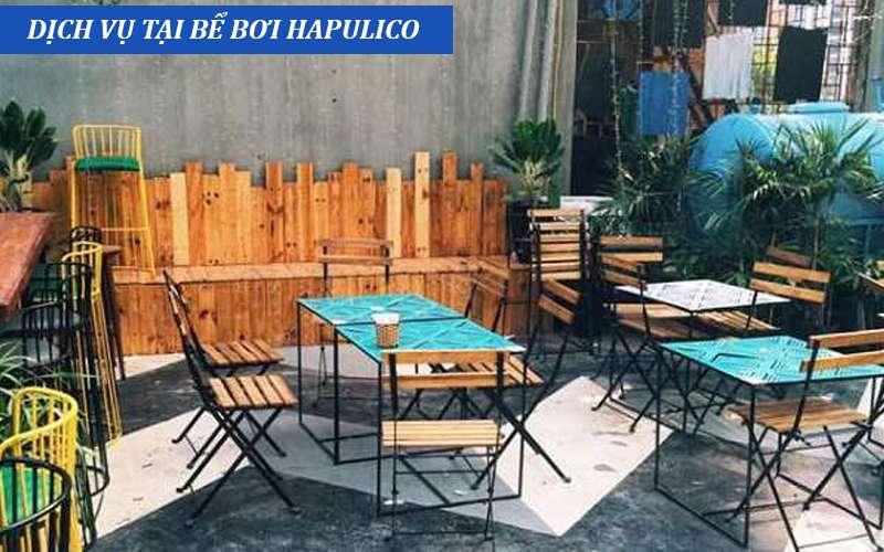 dịch vụ đi kèm tại bể bơi Hapulico