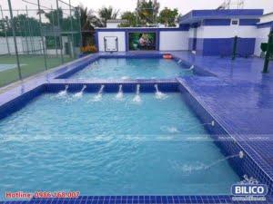Bilico bàn giao công trình bể bơi nhà anh sang TPHCM
