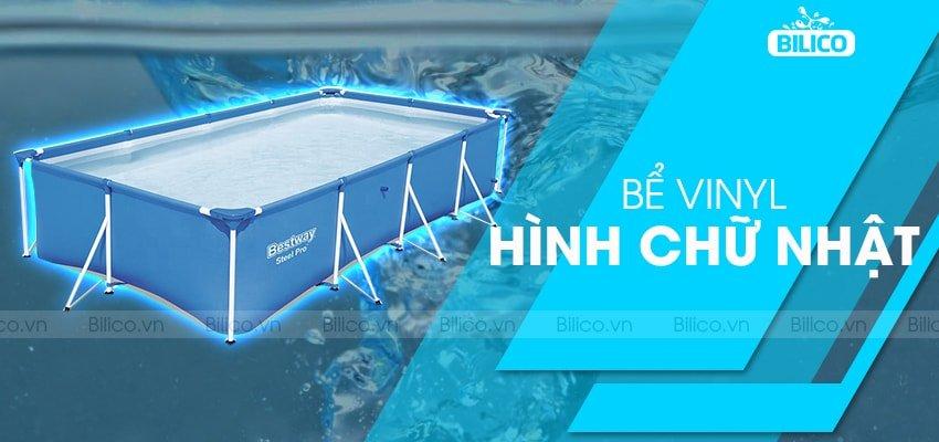 Bể bơi Vinyl hình chữ nhật