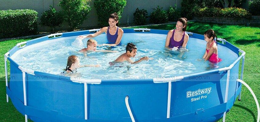 Đặc điểm thứ 3 bể bơi Vinyl hình tròn