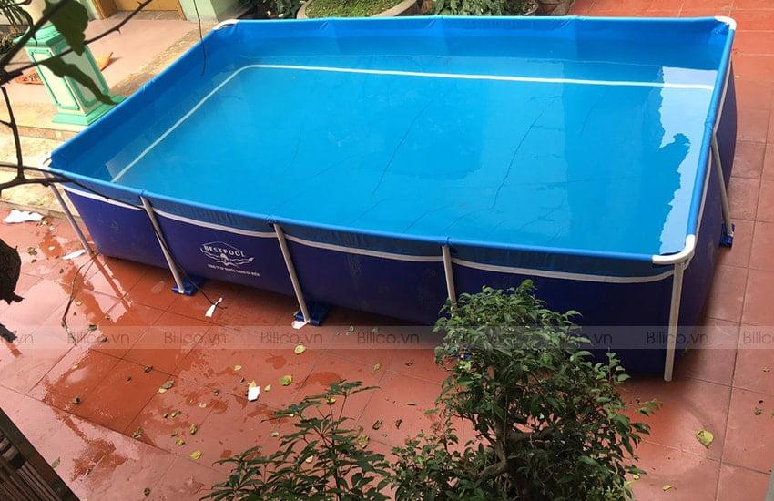 Ứng dụng bể bơi vinyl hình chữ nhật