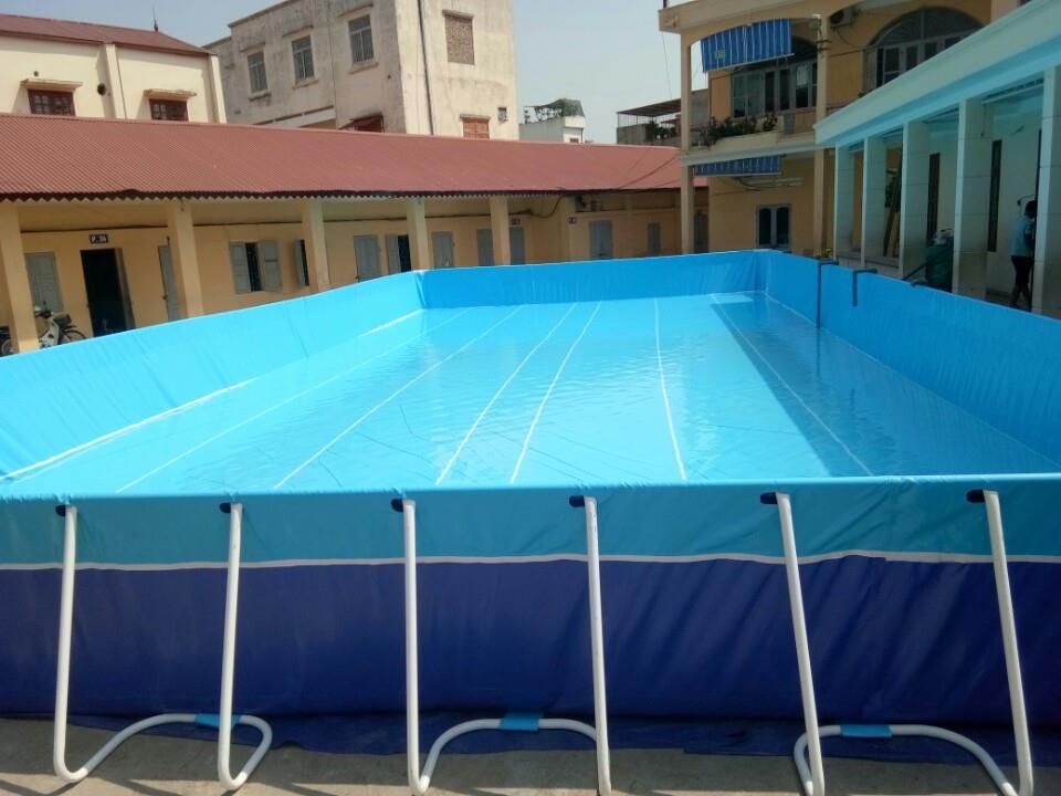 bể bơi bạt trường tiểu học Cát Bi