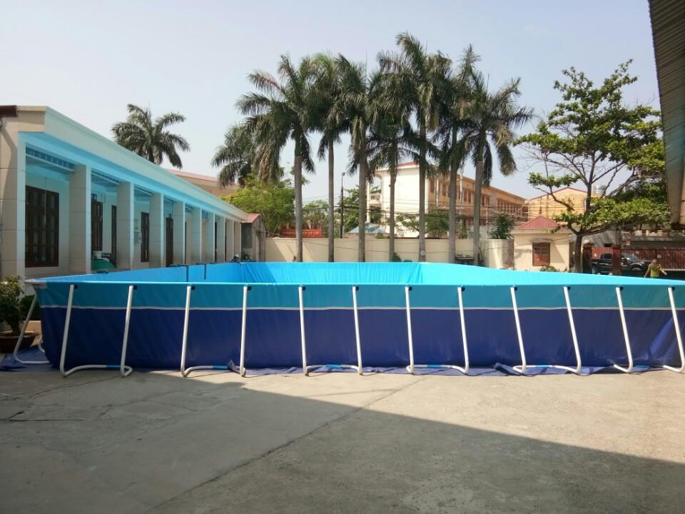 Hình ảnh bể bơi bạt trường tiểu học Cát Bi