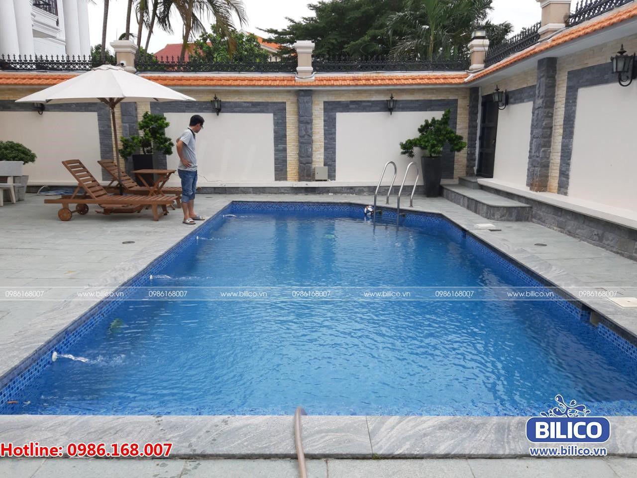 Bilico bàn giao bể bơi gia đình cho anh Giang