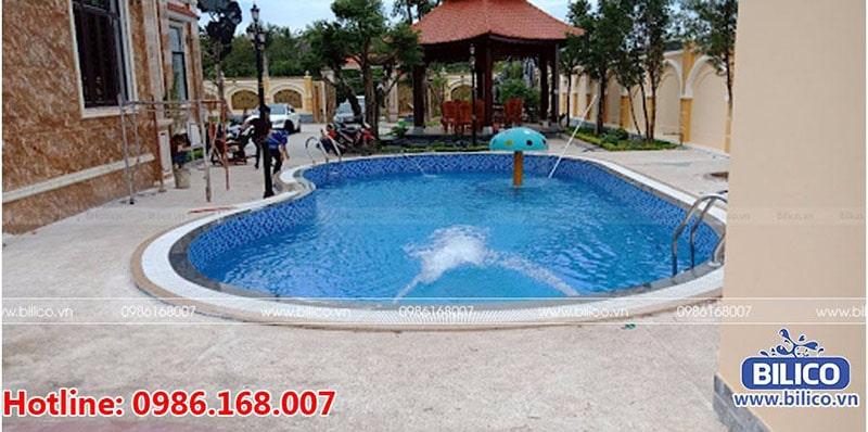 Bilico bàn giao công trình bể bơi anh Hoàng, Bình Phương, Bình Phước
