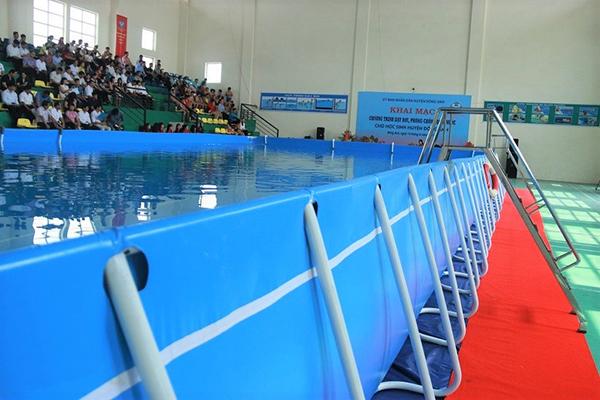 Bể bơi bạt cho học sinh huyện đông anh