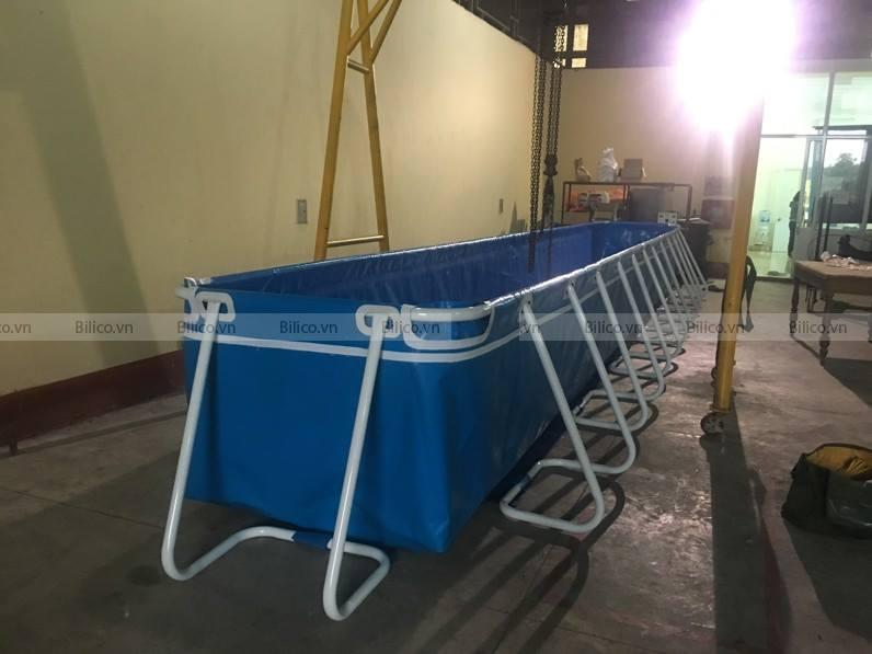 Bilico bàn giao bể bơi bạt cho viện nghiên cứu kĩ thuật hải quân