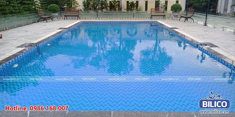 Bilico bàn giao công trình bể bơi chị Trinh, Sài Gòn