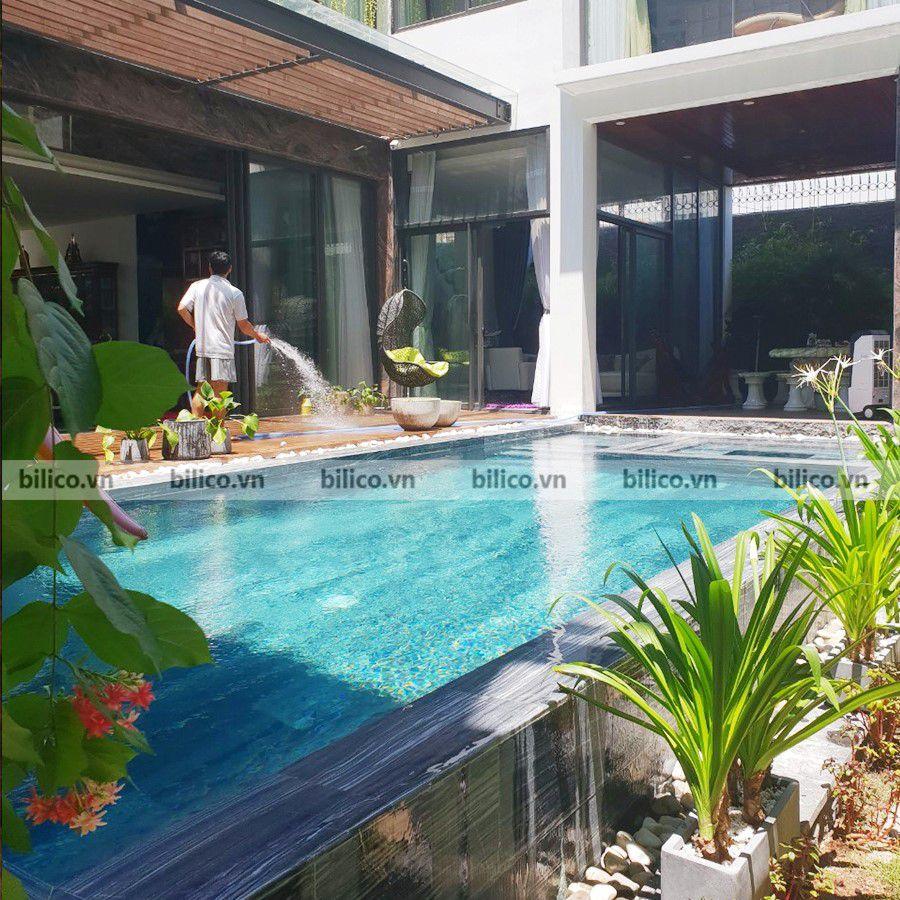Công trình bể bơi gia đình ông Huân - Nha Trang
