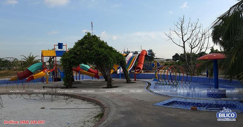 Công trình bể bơi khu vui chơi Huỳnh Kha, Trà Vinh do Bilico lắp đặt