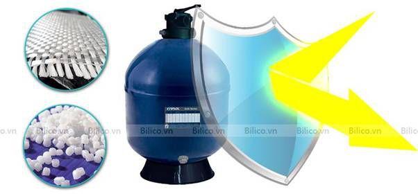 vỏ bình bình lọc bể bơi AKT van đỉnh chống tia UV