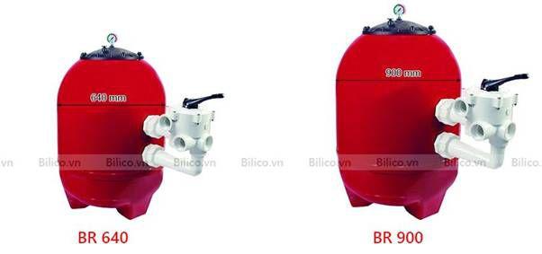 Hai mẫu bình lọc cát bể bơi Kripsol Model BR