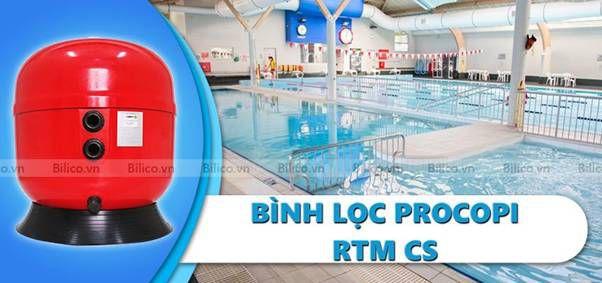 Bình lọc bể bơi Procopi RTM CS van ngang