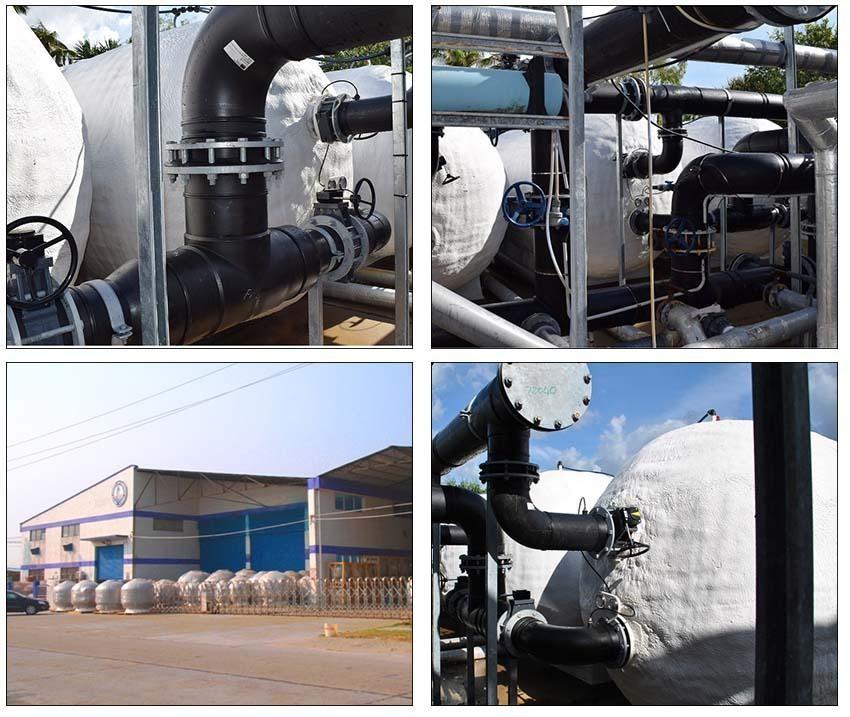 Xưởng sản xuất bình lọc bể bơi van đỉnh TS Tafuma