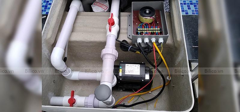 Hình ảnh các bộ phận bình lọc thông minh J2008
