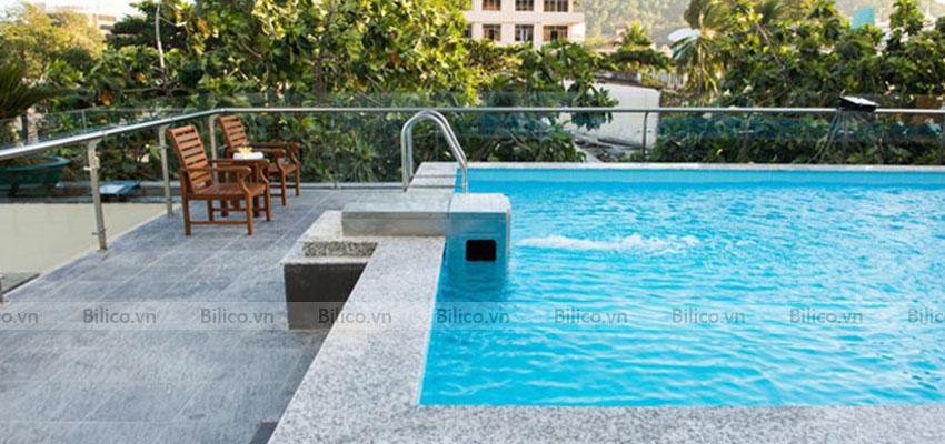 máy lọc bể bơi thông minh PK - 8026 lắp đặt cho hồ bơi