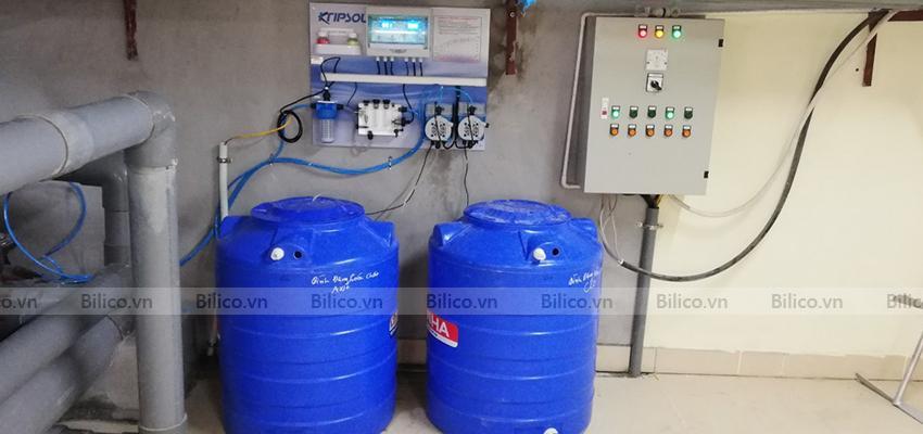 Ứng dụng bộ điều khiển kiểm tra hóa chất bể bơi Kripsol KEF88 CLA