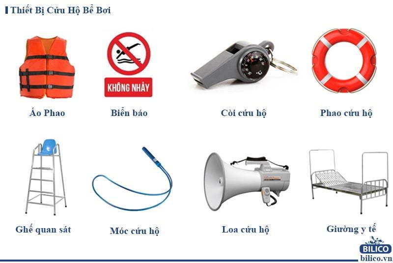 thiết bị cứu hộ bể bơi