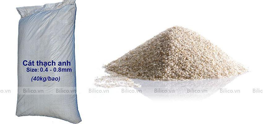 cát lọc nước thạch anh đóng bao 40kg