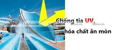 cầu trượt bể bơi chống tia UV