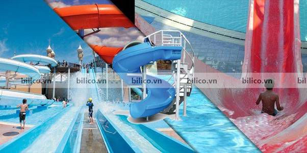Ứng dụng cầu trượt bể bơi tại các khu công viên giải trí