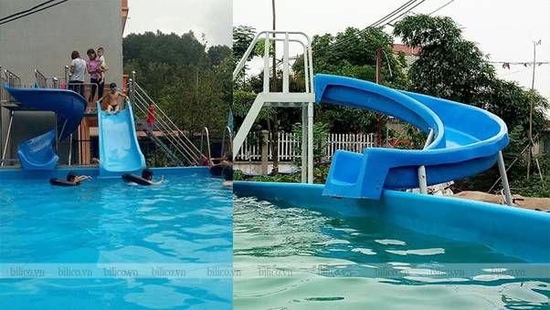 Ứng dụng cầu trượt tại bể bơi