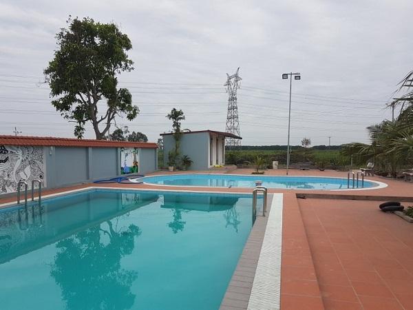 Bể bơi gia đình anh Dẫn do Công ty TNHH Xây dựng và Thiết bị Bilico thi công lắp đặt