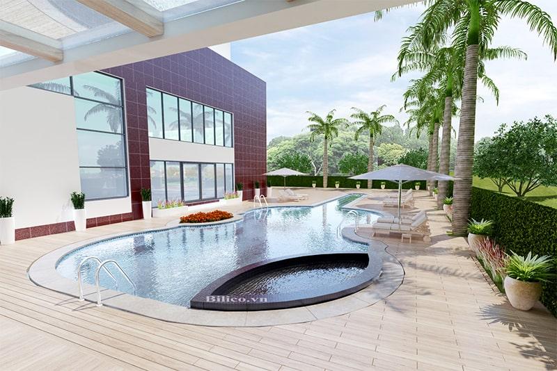 Công trình bể bơi gia đình Anh Dũng - Lào Cai do Bilico lắp đặt