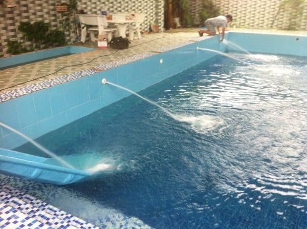 Công trình bể bơi gia đình anh Phước sau khi được Bilico cải tạo