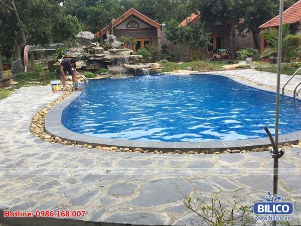 Bilico bàn giao công trình bể bơi anh Thành tại Family Homestay, Ninh Bình