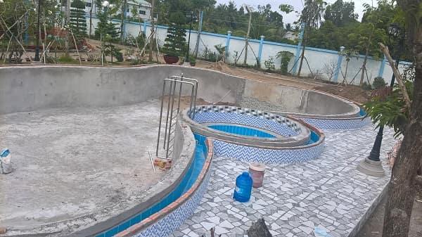 Công trình bể bơi công ty Nga Thủy sử dụng thiết bị bể bơi cảu hàng Mimder, Kripsol