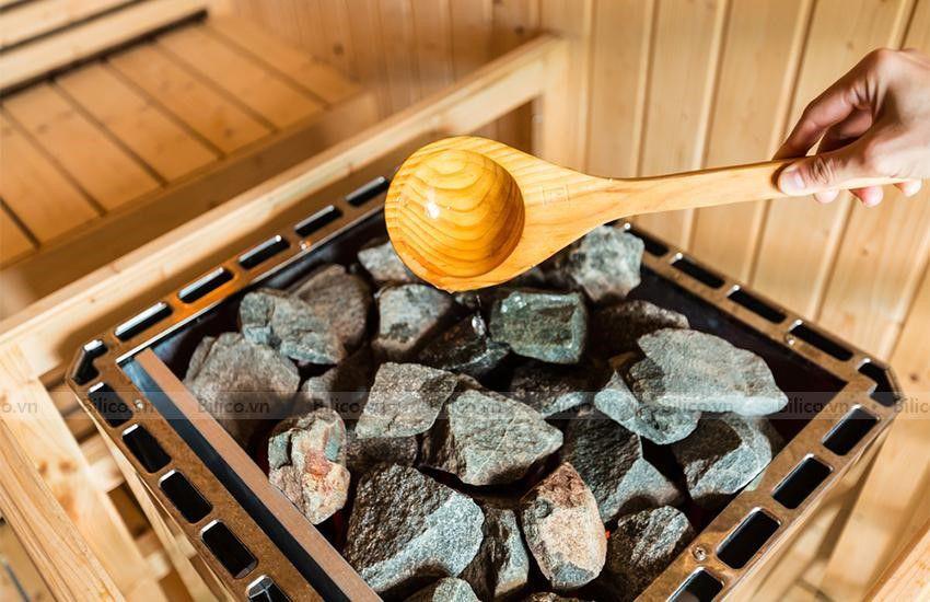 Hình ảnh đá xông hơi khô Narvi trong phòng xông khô