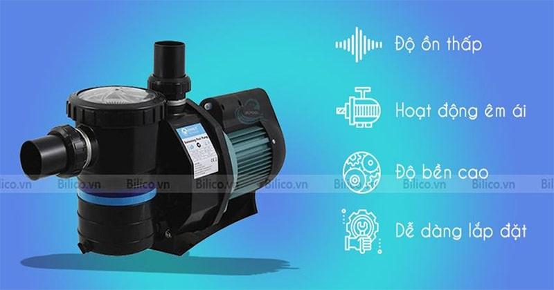 Đặc điểm nổi bật máy bơm bể bơi Emaux 3HP - Bilico
