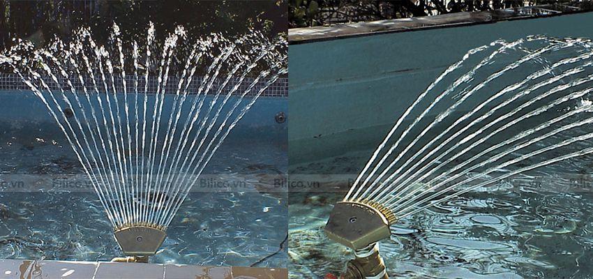 Ứng dụng đầu phun nước tia hình quạt YPN