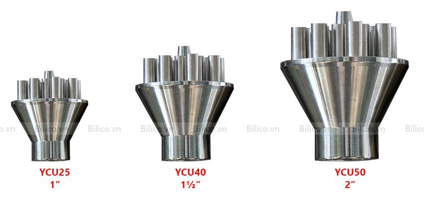 3 mẫu đầu phun nước hình trụ cột YCU