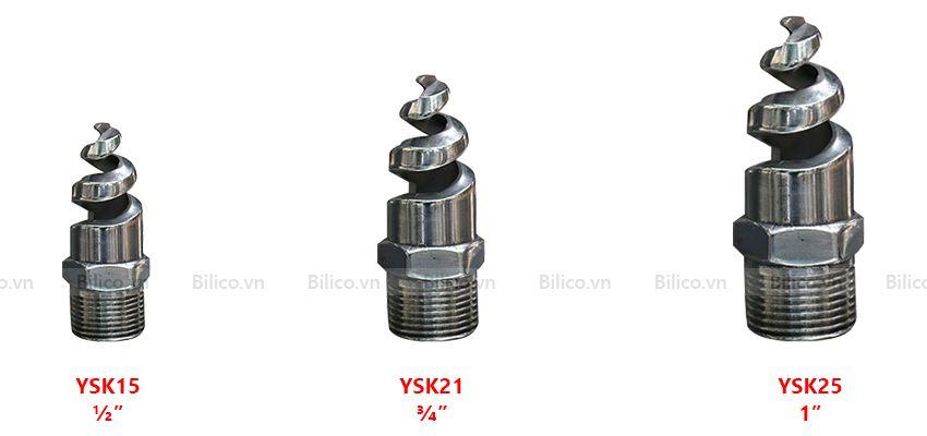 3 loại đầu phun xoắn ốc YSK