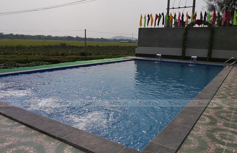 Ứng dụng đầu trả nước bể bơi Emaux EM3301