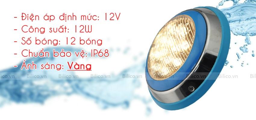 Thông số Đèn LED vàng trang trí bể bơi TF12 - 12Y