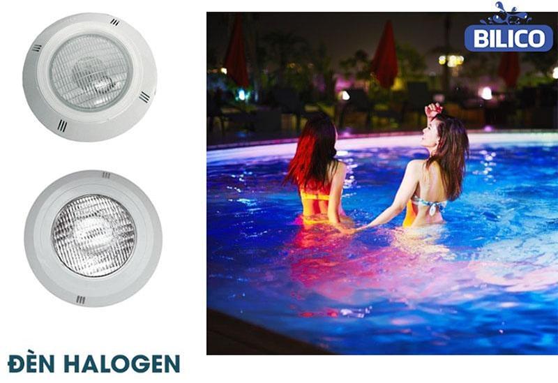 đèn halogen sử dụng cho bể bơi
