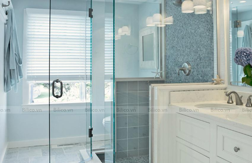 Ứng dụng gạch mosaic E709 ốp phòng tắm