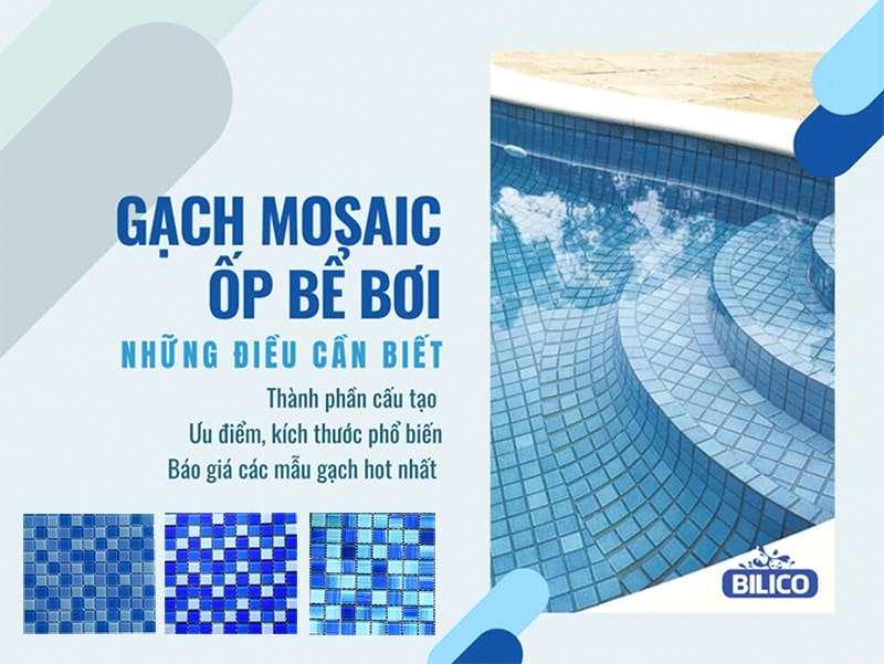 báo giá gạch mosaic ốp bể bơi (hồ bơi)