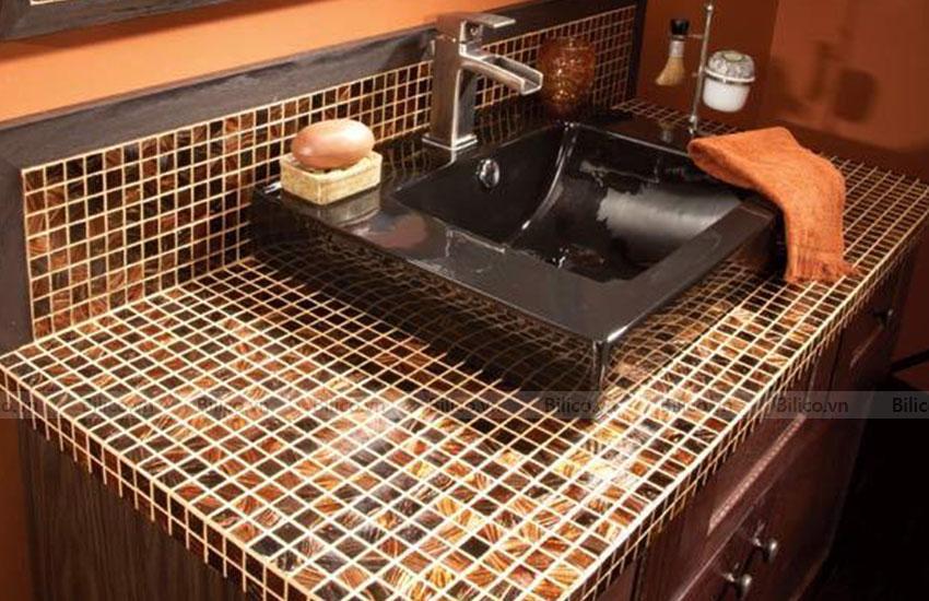 Ứng dụng gạch mosaic E101 ốp nhà tắm