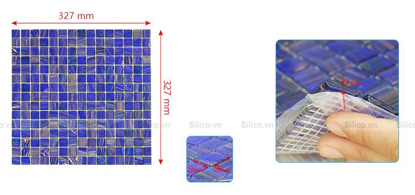 Kích thước gạch Mosaic E705