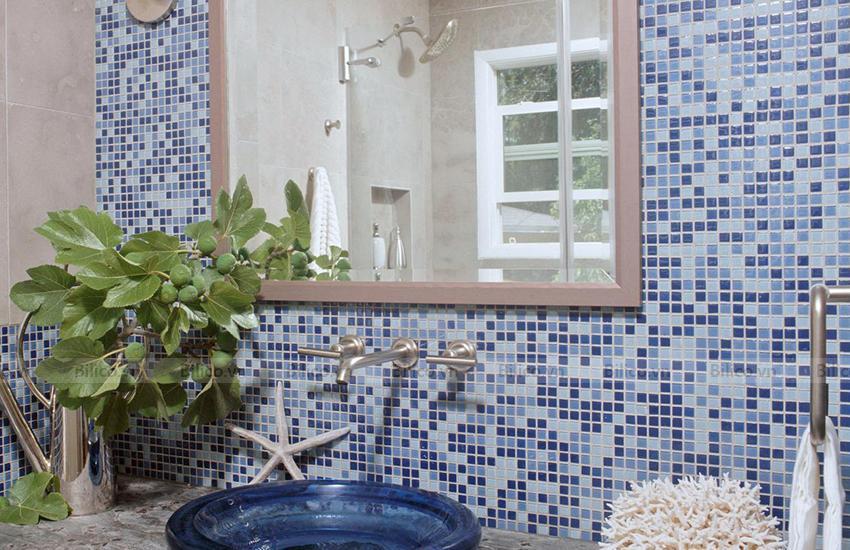 Ứng dụng gạch Mosaic E705 ốp phòng tắm