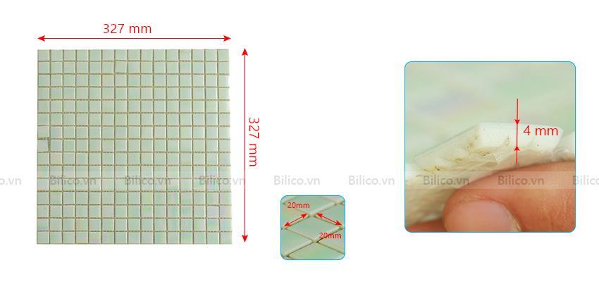 Kích thước gạch mosaic F130