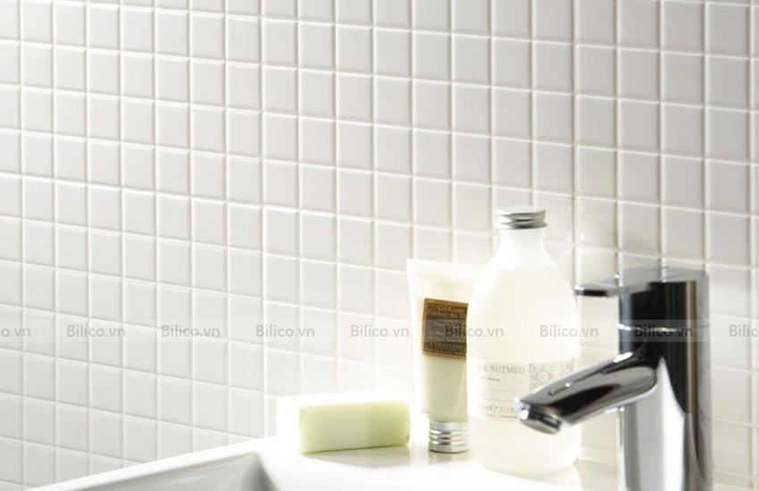 Ứng dụng gạch mosaic F130 ốp phòng tắm