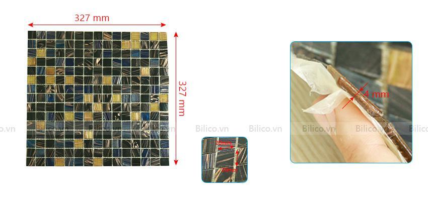Kích thước gạch Mosaic NO.03E