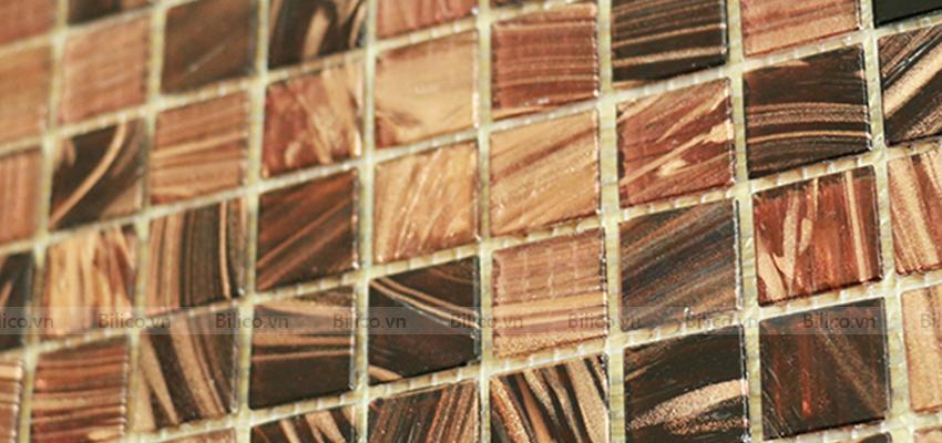 gạch mosaic NO.15E có màu nâu gỗ sang trọng