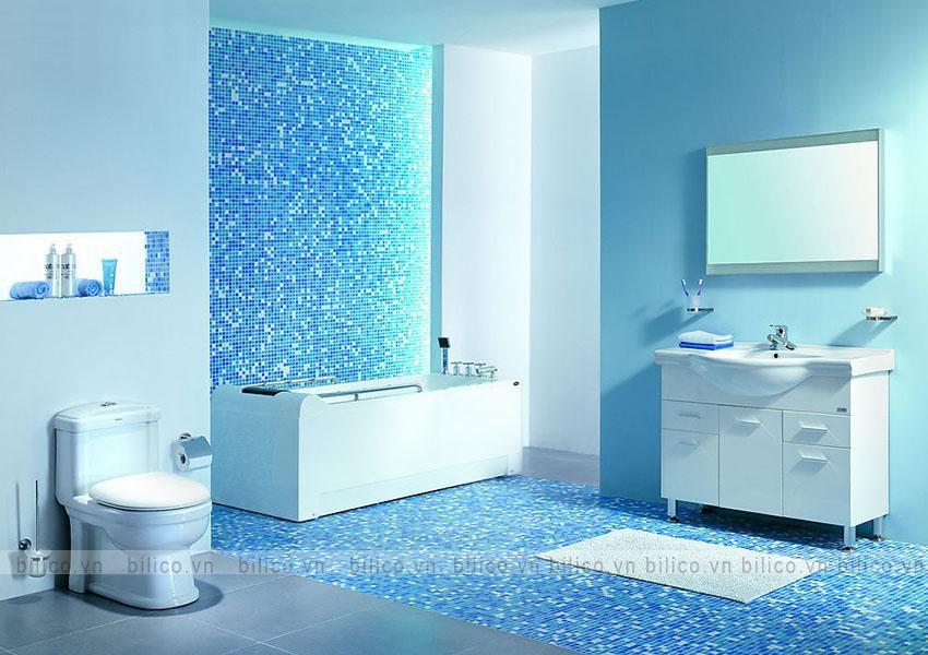 Ứng dụng gạch mosaic BV003 ốp phòng tắm